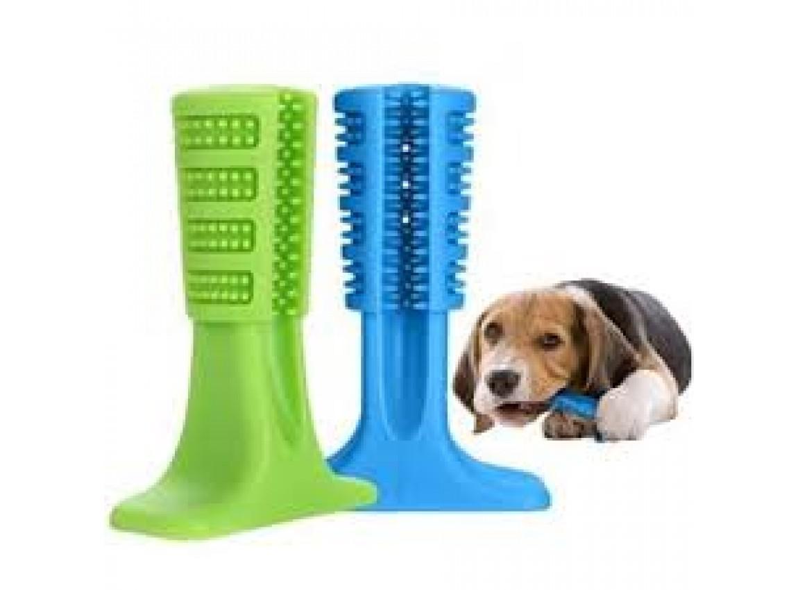 Escova Dental e Mordedor Para Cachorro - médio