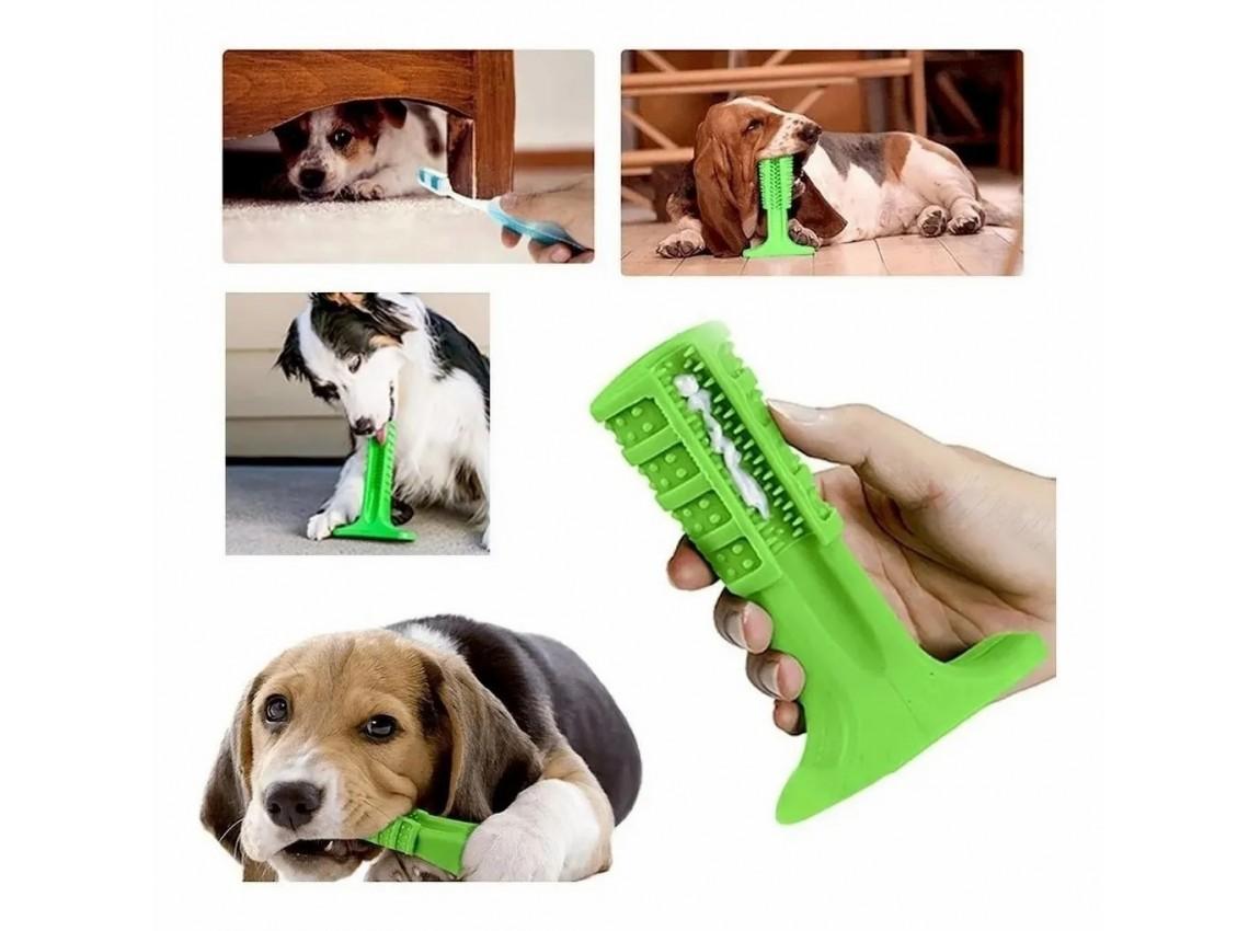 Escova Dental e Mordedor Para Cachorro - Grande